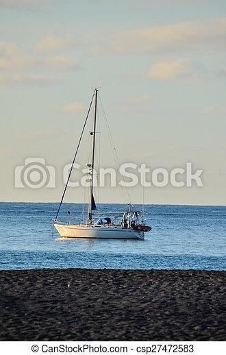 Boat in the Ocean - csp27472583