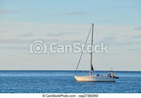 Boat in the Ocean - csp27382060