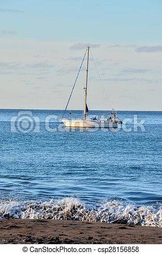 Boat in the Ocean - csp28156858