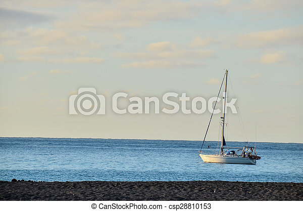 Boat in the Ocean - csp28810153