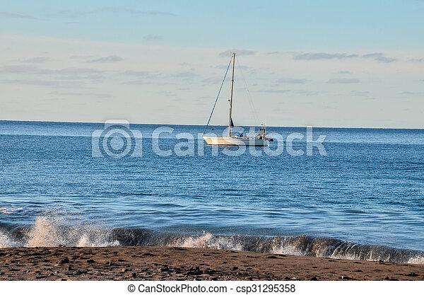 Boat in the Ocean - csp31295358