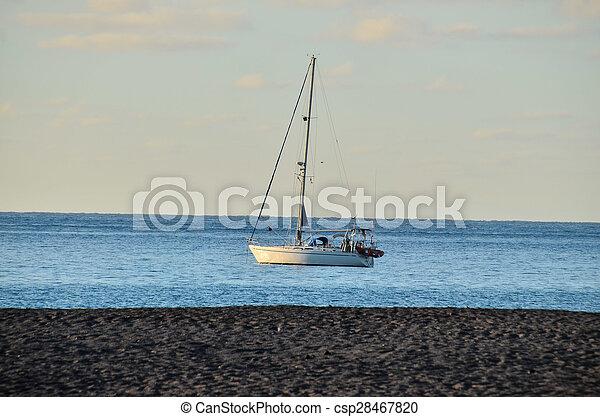 Boat in the Ocean - csp28467820