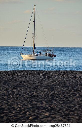 Boat in the Ocean - csp28467824
