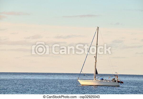Boat in the Ocean - csp32925043