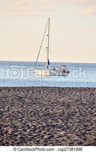 Boat in the Ocean - csp27381996