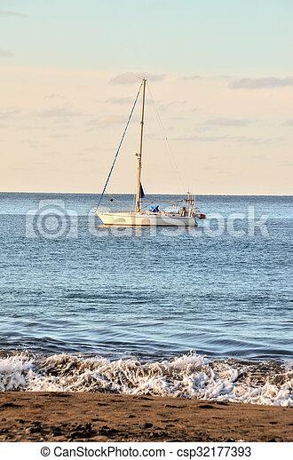 Boat in the Ocean - csp32177393