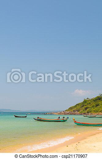 boat in the ocean - csp21170907