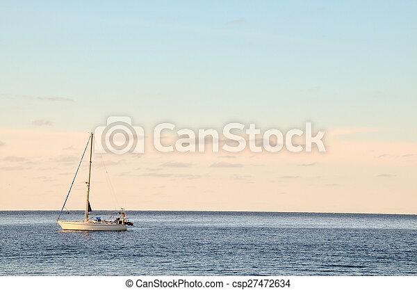Boat in the Ocean - csp27472634