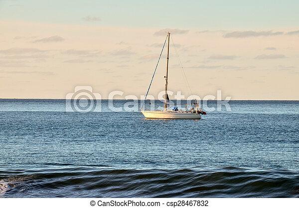 Boat in the Ocean - csp28467832
