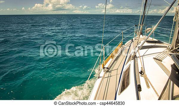 Boat in the ocean - csp44645830