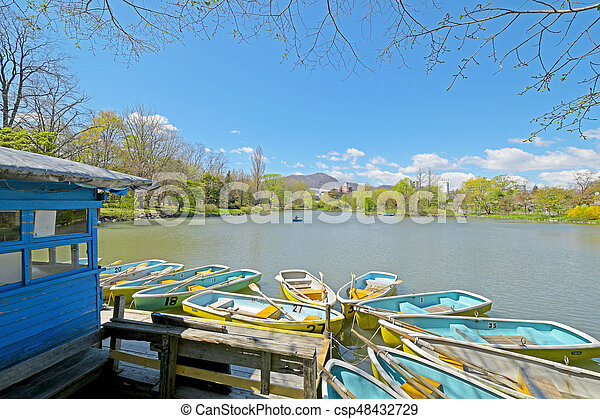boat in the park - csp48432729