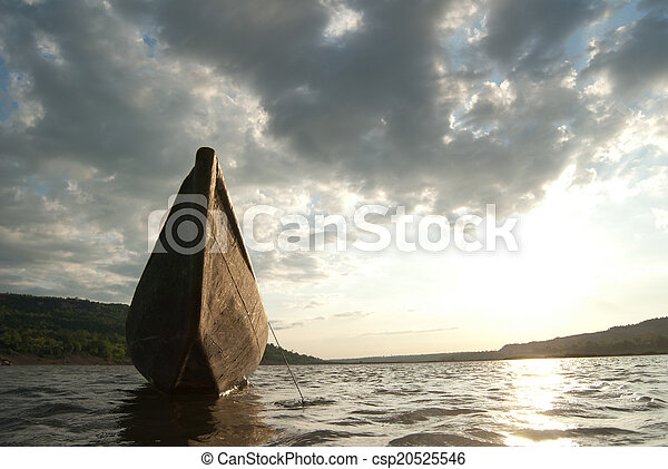 boat in the river - csp20525546