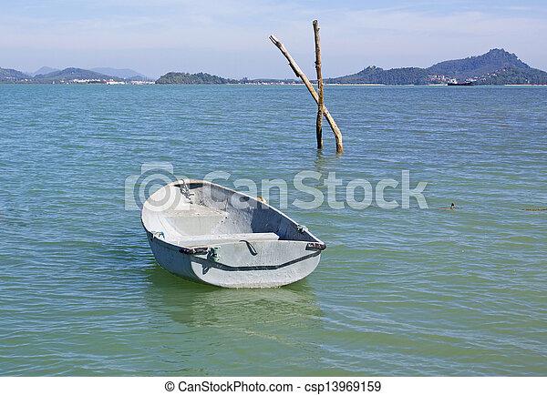 boat in the sea - csp13969159
