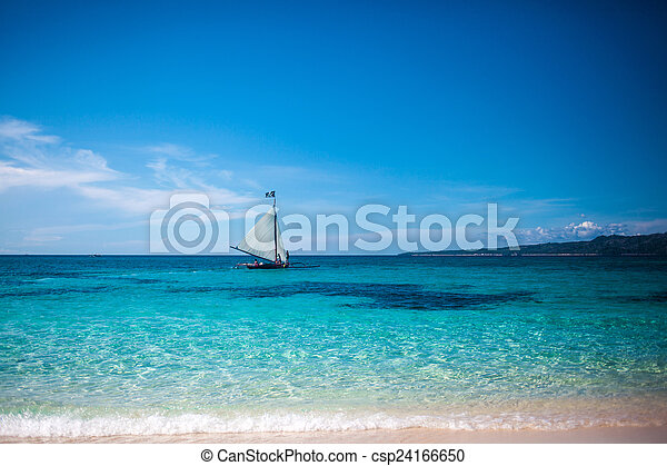 Boat in the sea - csp24166650