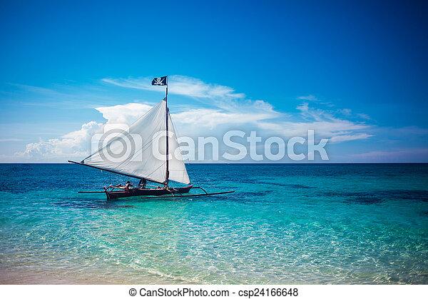 Boat in the sea - csp24166648