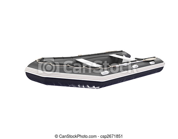 Boat isolated front view 02 - csp2671851
