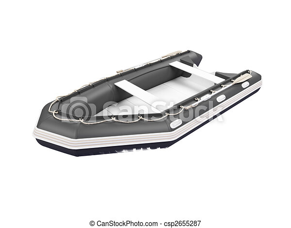 Boat isolated front view - csp2655287