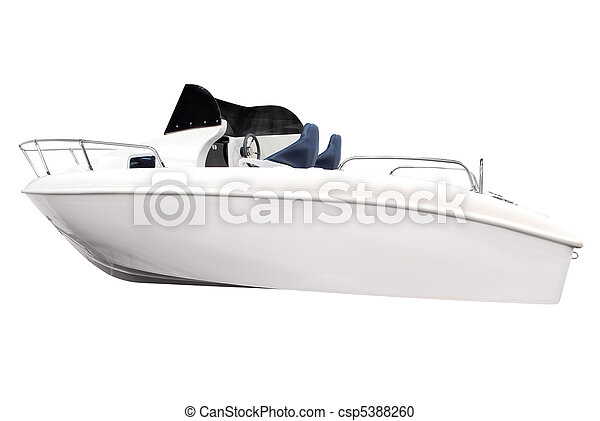 boat isolated on white - csp5388260