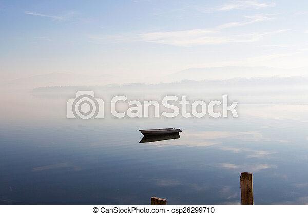 Boat on lake - csp26299710