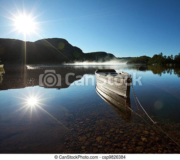 Boat on lake - csp9826384