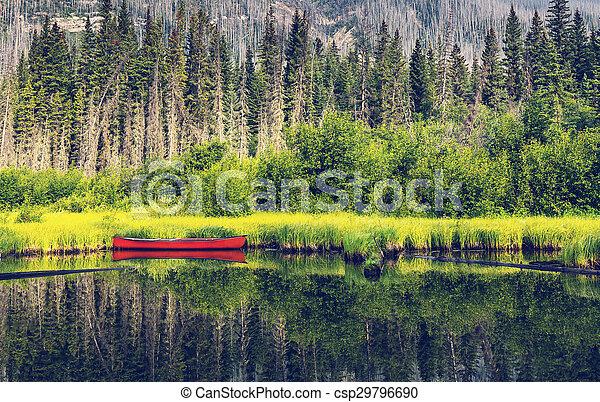 Boat on lake - csp29796690