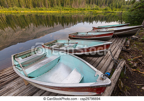 Boat on the lake - csp29796694