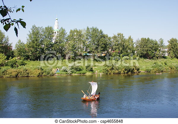 boat on the river - csp4655848