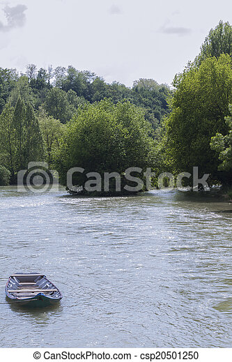 boat on the river - csp20501250