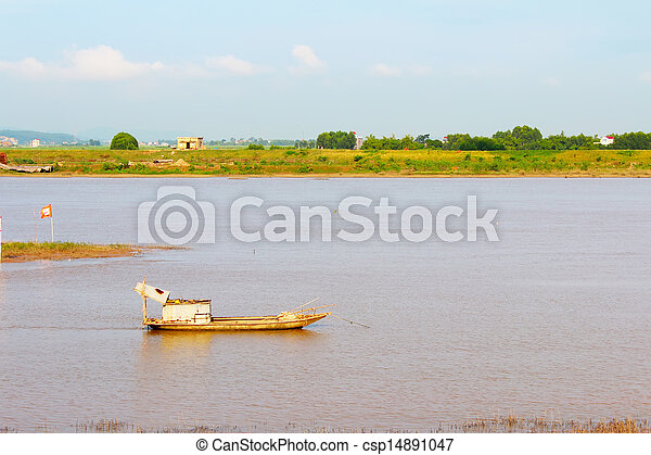 boat on the river - csp14891047