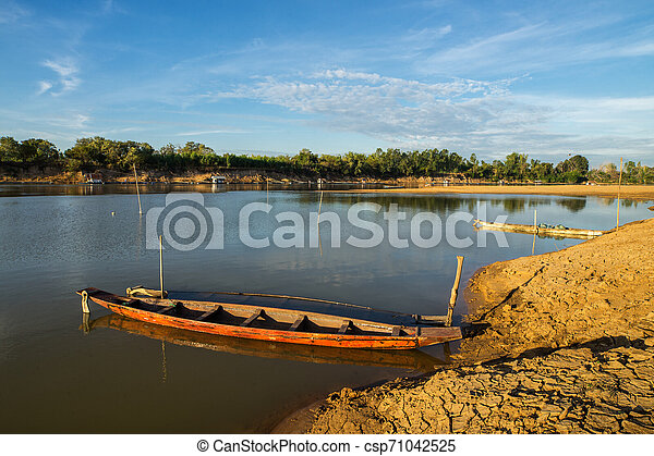 boat on the river - csp71042525
