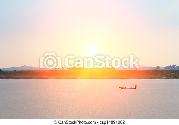 boat on the river - csp14891002