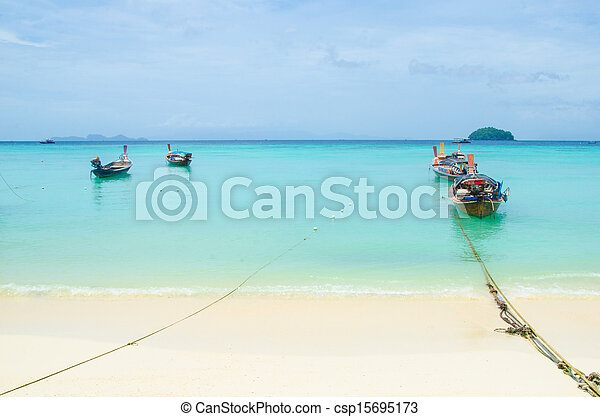 Boat on the sea in thailand - csp15695173