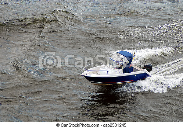 Boat on the sea - csp2501245
