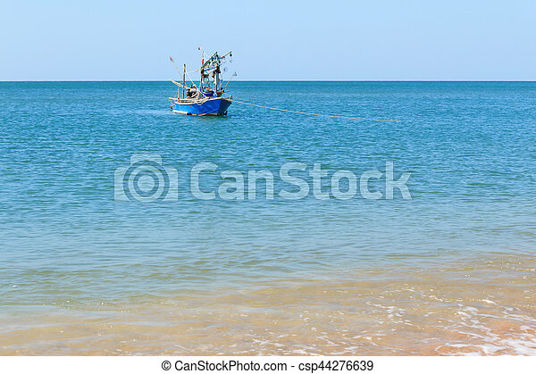 Boat on the sea - csp44276639