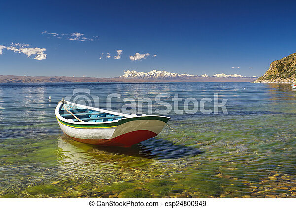 Boat on Titicaca - csp24800949