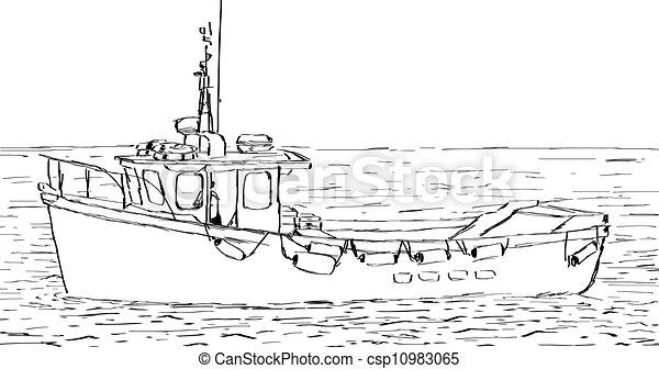 Boat Sketch - csp10983065
