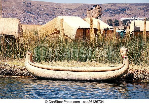 Boat Titicaca - csp26136734