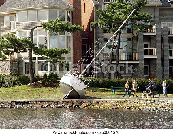 Boat washed ashore - csp0001570