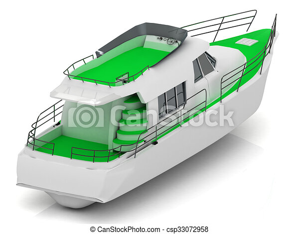 Boat with green walkways - csp33072958