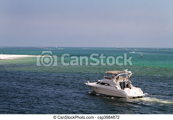 Boating In Destin Pass - csp3984872