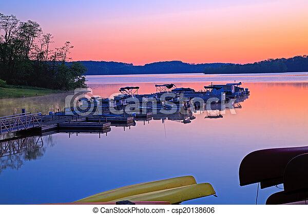 Boats at Sunrise - csp20138606