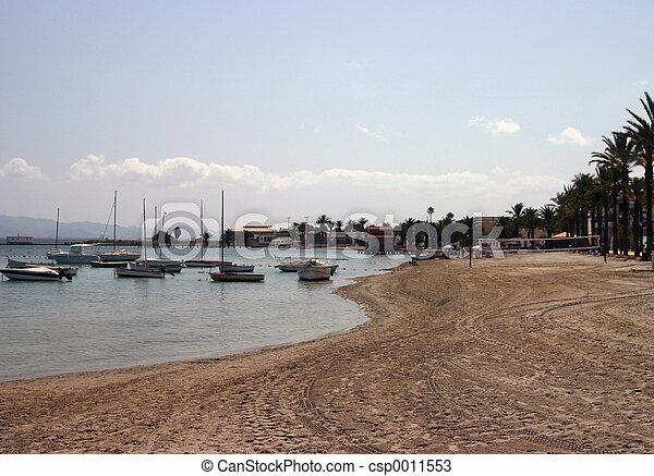 boats at the beach - csp0011553