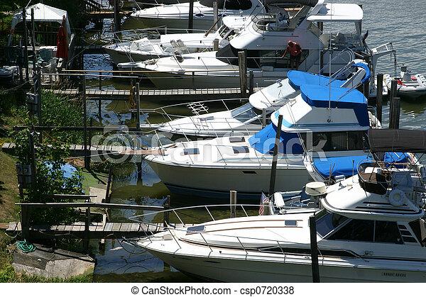 Boats at the marina - csp0720338