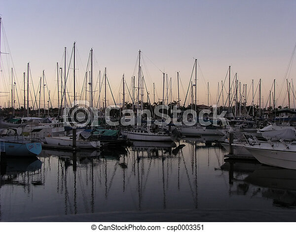Boats in the Evenin - csp0003351