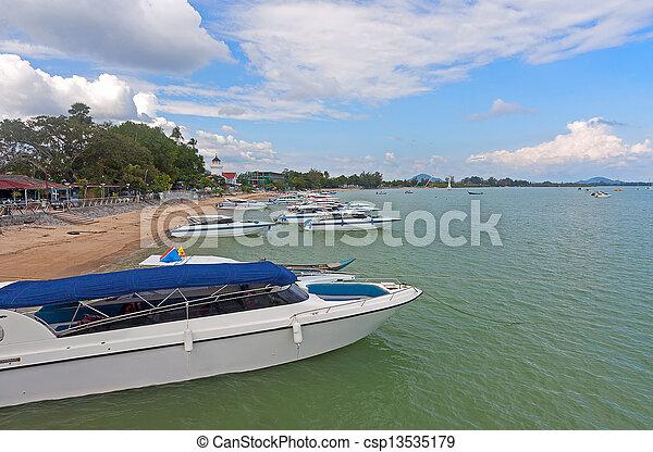 boats near shore - csp13535179