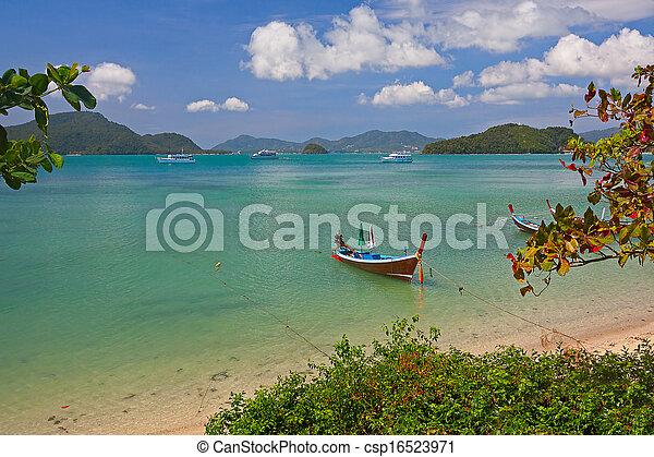 boats near shore - csp16523971