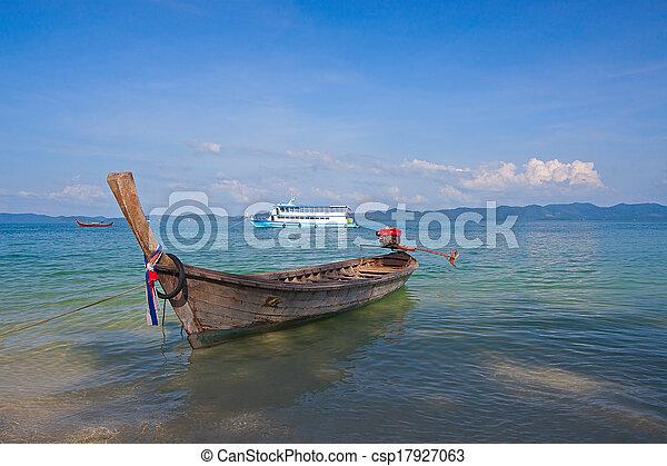 boats near shore - csp17927063