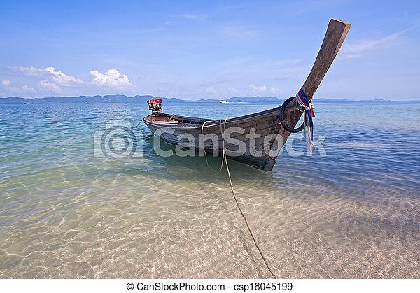 boats near shore - csp18045199