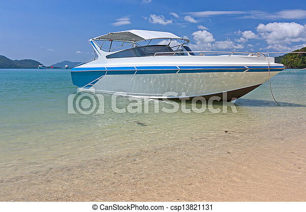 boats near shore - csp13821131