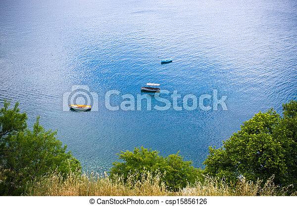Boats near the shore - csp15856126
